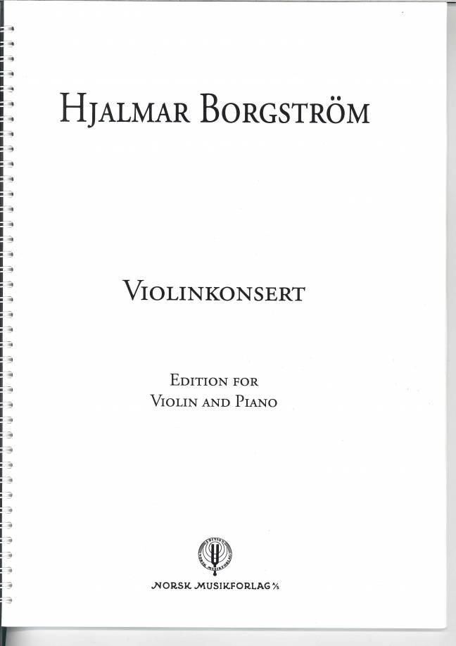 HJALMAR BORGSTRØM: Violin Concerto