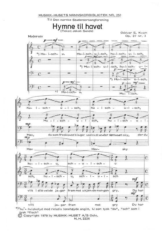 ODDVAR S. KVAM/JACOB SANDE: Hymne til havet