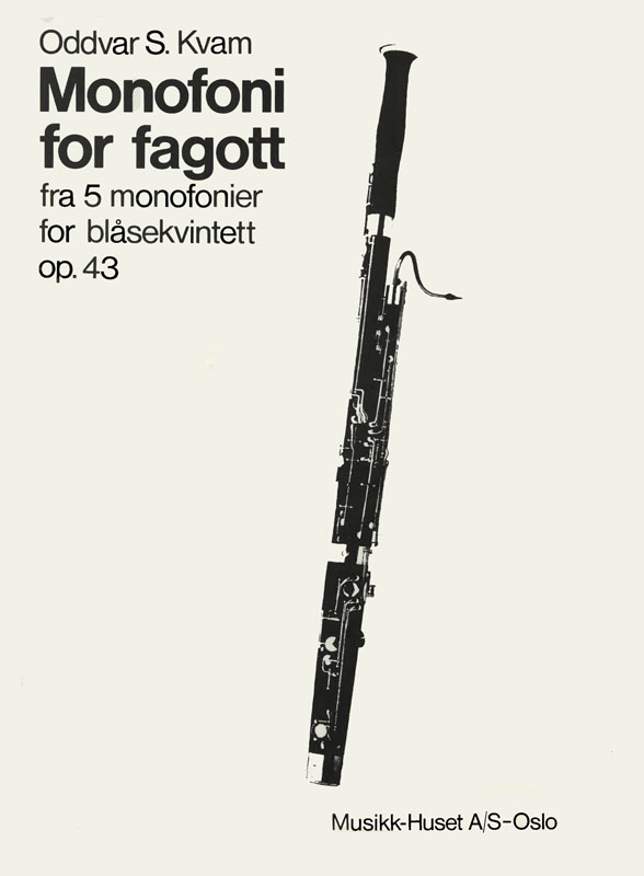 ODDVAR S. KVAM: Monofoni for fagott op. 43 no. 3