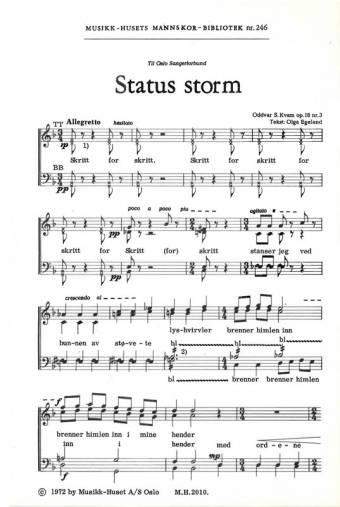 ODDVAR S. KVAM/OLGA EGELAND: Status storm