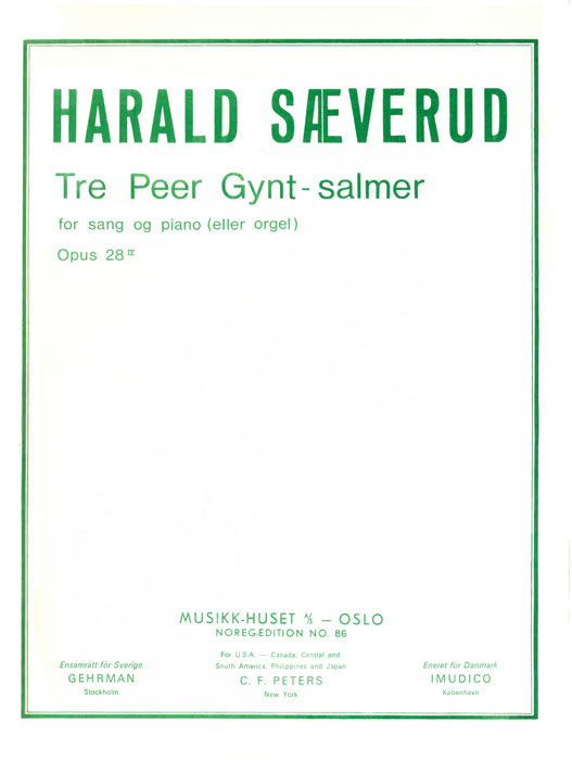 HARALD SÆVERUD: 3 Peer Gynt-Salmer