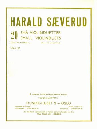 HARALD SÆVERUD: 20 små fiolinduetter
