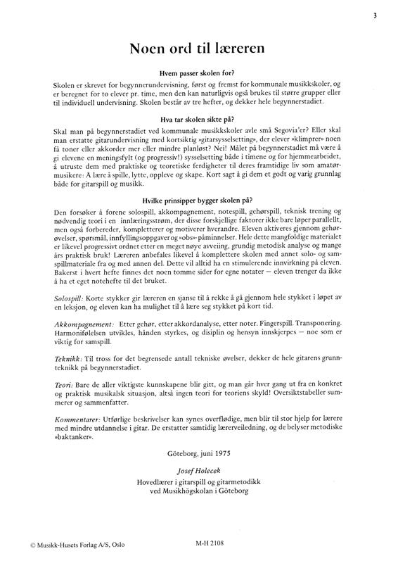 Holecek, Josef: LÆR DEG Å SPILLE GITAR 1
