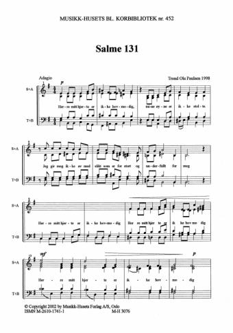 TROND OLE PAULSEN: Salme 131