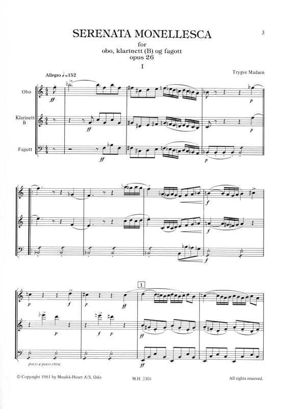 TRYGVE MADSEN: Serenata Monellesca op. 26