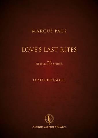 14028A Loves Last Rites Omslag Conductors Score