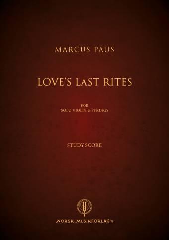14028B Loves Last Rites Omslag Study Score