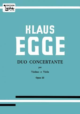 KLAUS EGGE: Duo Concertante