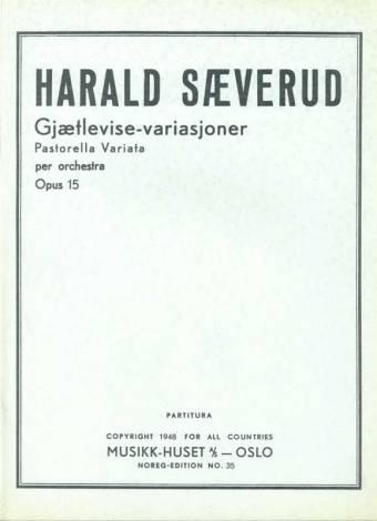 Sæverud, Harald: Gjætlevise-variasjoner