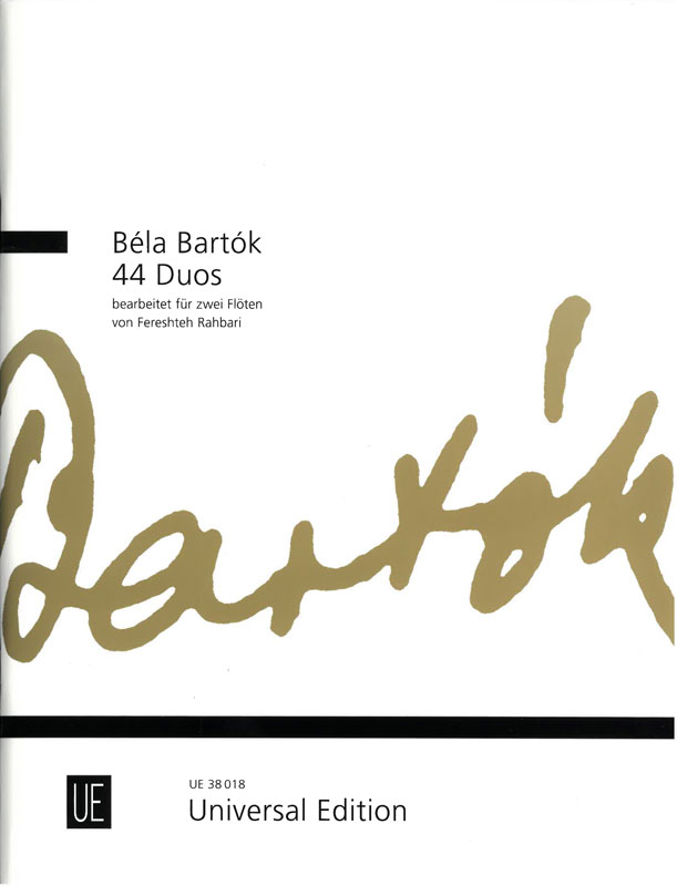 BÉLA BARTÓK: 44 Duos for two flutes