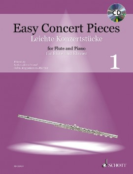 Easy Concert Pieces for Flute and Piano 1