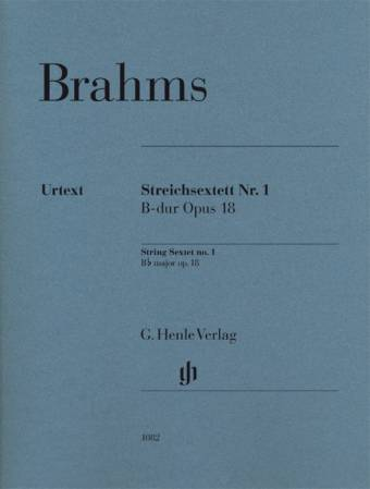 JOHANNES BRAHMS: String Sextet no. 1, B flat major, op. 18