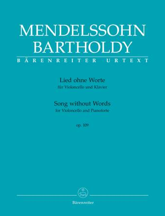 "Mendelssohn Bartholdy, Felix: Song without Words for Violoncello and Pianoforte op. 109 er et standardver fra cellolitteraturen og er hentet fra volum II av Complete Works for Violoncello og Pianoforte (BA 9096 og BA 9097) som ble utgitt i 2016. Mendelssohnekspert R. Larry Todd redigerte den kritiske utgaven av ""Song without Words""."
