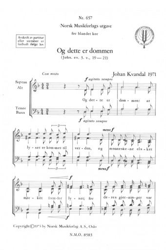 JOHAN KVANDAL: Og dette er dommen