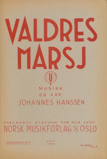 JOHANNES HANSSEN: Valdres-marsj (Salongorkester)