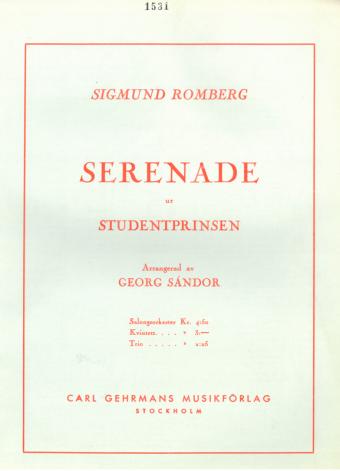 SIGMUND ROMBERG: Serenade