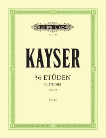 KAYSER: 36 Etüden op. 20