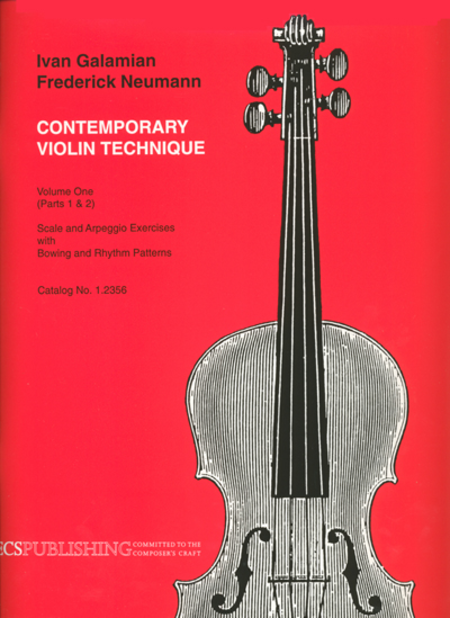 Galamian: Contemporary Violin Technique, Volume 1
