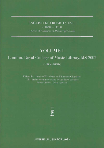 English Keyboard Music Volume 1
