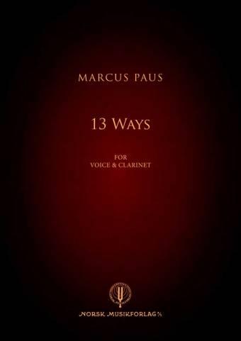 MARCUS PAUS: 13 Ways