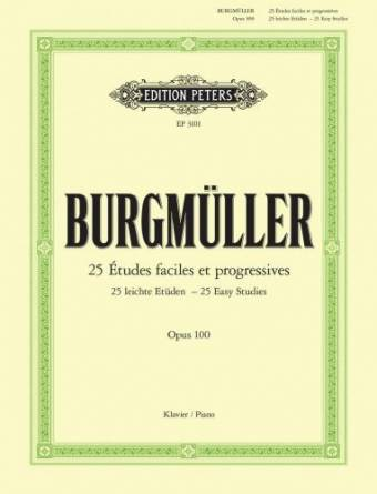 BURGMÜLLER: 25 Études faciles at progressives op. 100