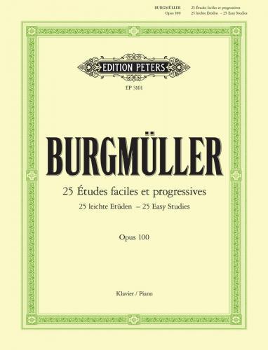 BURGMÜLLER: 25 Études faciles at progressives op. 100