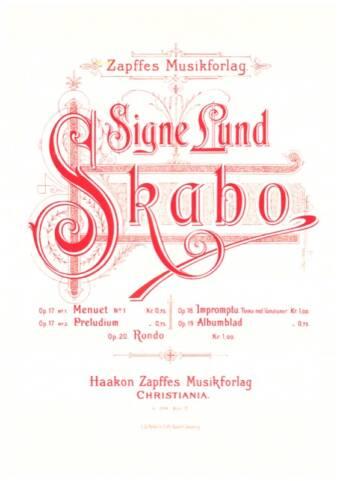 SIGNE LUND-SKABO: Impromptu, Op. 18